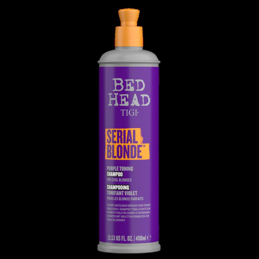TIGI Serial Blonde Purple Toning - Lila Hamvasító Sampon 400 ml